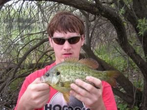 Nephew with an 10-inch+ redear sunfish