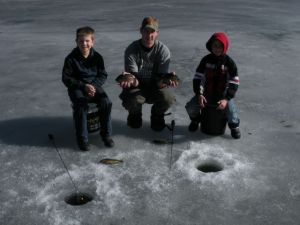 "Daniel and ""the boys"" with some nice bluegills"