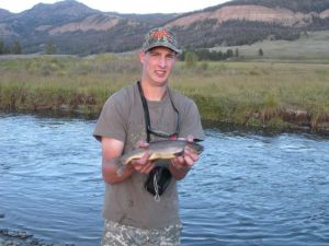 Daniel's first Yellowstone cutthroat.