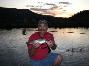 The fat old guy can catch 'em too.  For my fly-fishing buddies, NOTICE THE FLY ROD!  Yes, I actually can fly-fish.