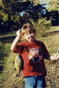 Emily with a big bluegill.